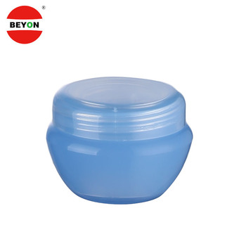 Empty Blue 5ml Plastic Packaging Cosmetic Face Cream Jar