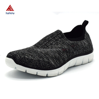 Silver Thread Fly Knit Slip On Women Sport Shoes Summer Air Holes Breathable Athletic Shoes