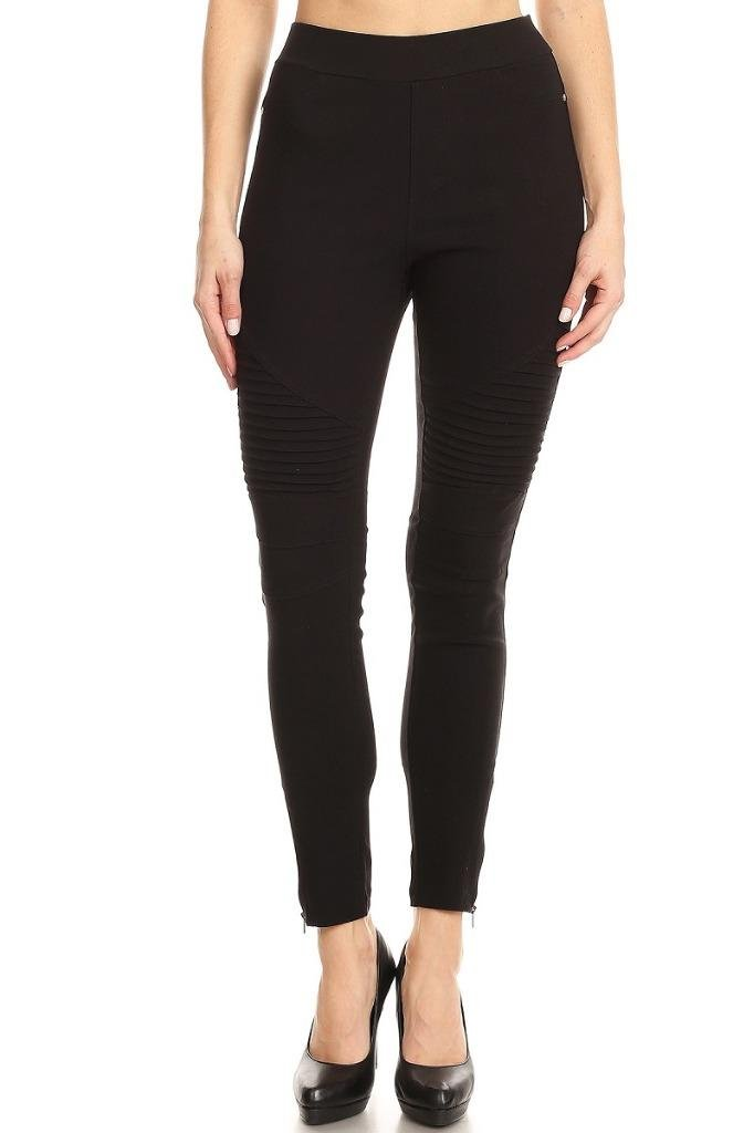 317de42e3a2b2 Get Quotations · Women's High Waist Moto Ankle Zipper Skinny Jeggings Denim  Pants