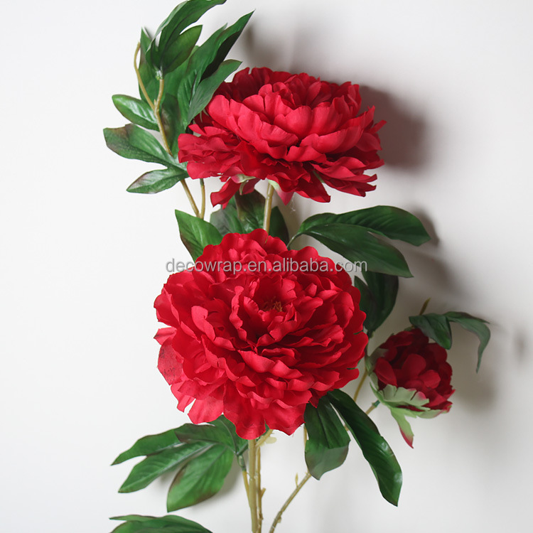 Silk artificial peony flowers wholesale artificial Luoyang peony