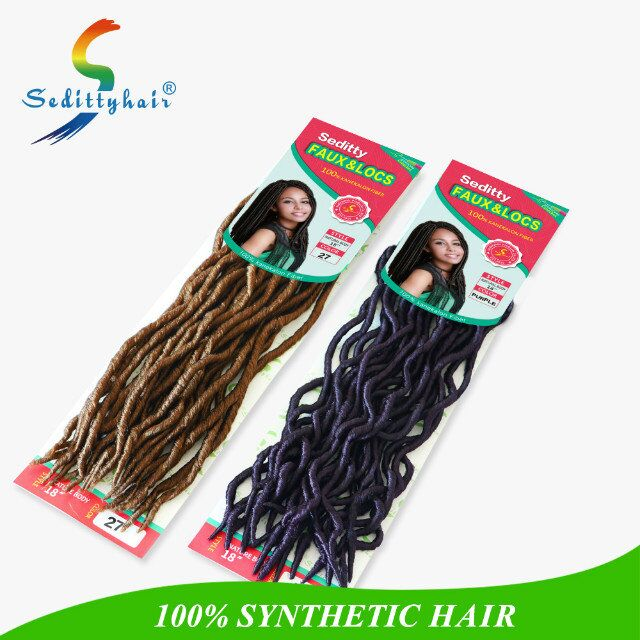 Wholesale high quality 18 inch Seditty Faux Locs Loose wave twist crochet extension with synthetic hair