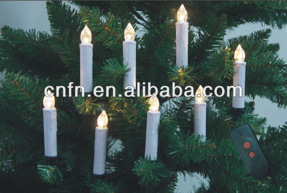 wholesale controller led christmas decorative taper candles