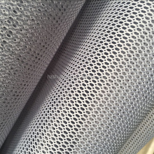 Stiff see through mesh fabric with 100 polyester tricot knitted fabric