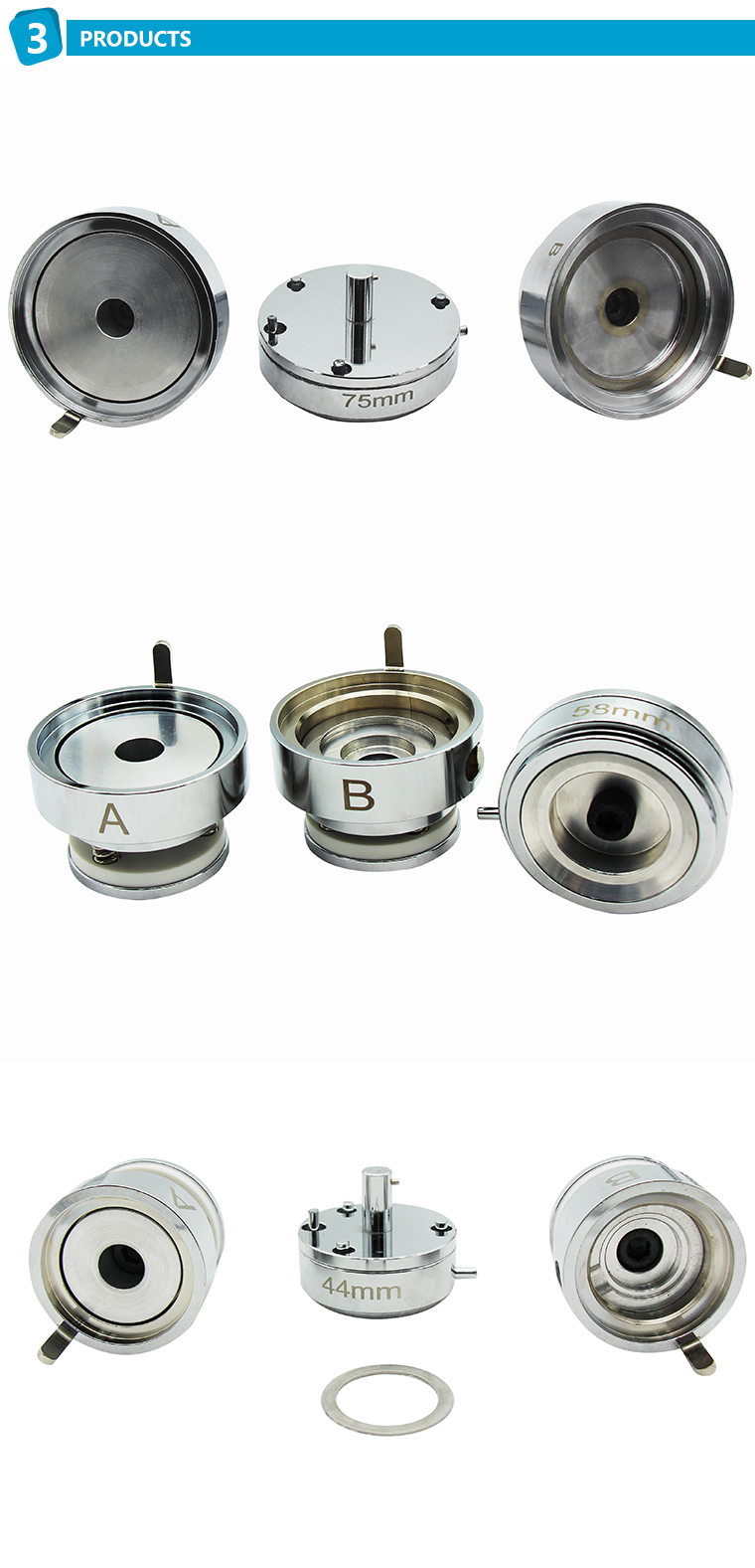 Ingenuity new arrival 58mm Button Badge Making machine Mould