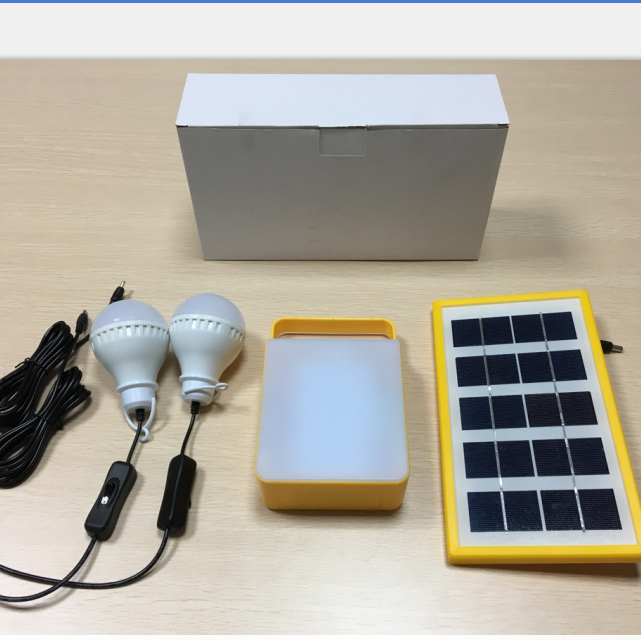 indoor solar panel light for rural homes , 3lamps , USB charger