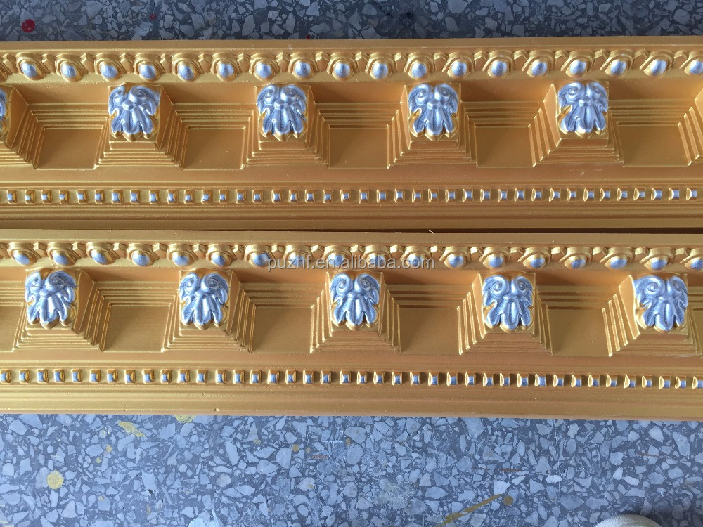hot sale PU Foam Polyurethane Decorative Cornice / Crown molding