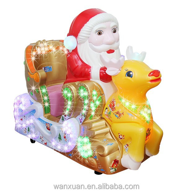 Christmas!!! Santa Claus Amusement Kiddie Rides Fun Park Machine