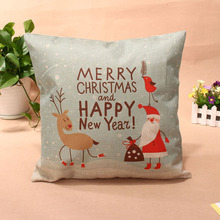44*44cm Cartoon Printed Cotton Linen Pillow Case Cushion Cover Christmas Home Decorative Cushion Covers E#CH