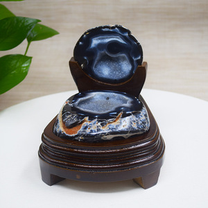 Wholesale high quality fengshui home decor natural furnishing articles blue Agate geode