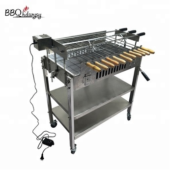Hot sell brazilian charcoal bbq cyprus rotisserie grill spit mechanism