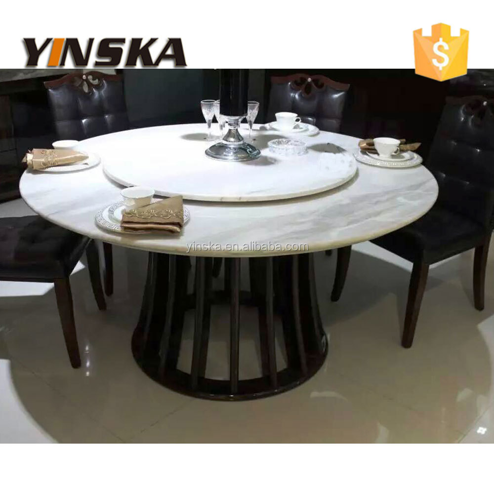 Round Dining Room Table With Lazy Susan Design