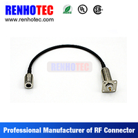 F Male plug to RCA Female Connector cable coaxial