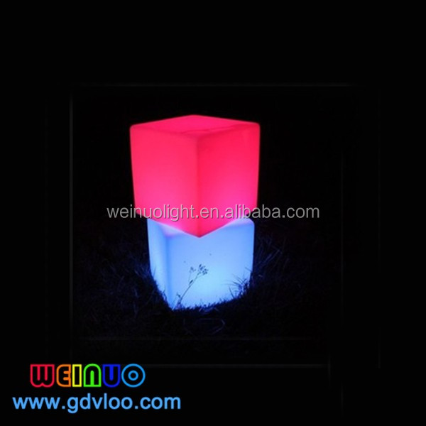 Colors Changing Party Led Light Up Cube Chair Bar Stool