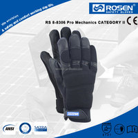 RS SAFETY band top driving black color goat skin leather driver gloves for hand work