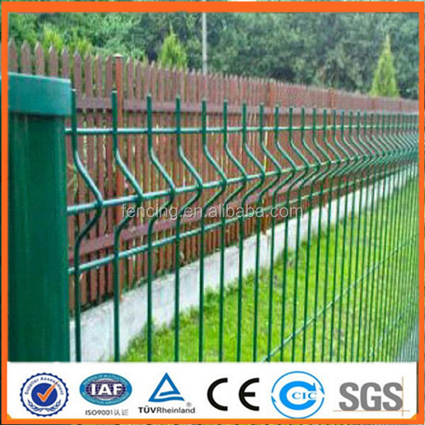 Curves Bend Pvc-coated Wire Mesh Fence / Home Garden Galvanized ...