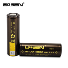 New model 21700 battery Basen 21700 4000 30A high drain rechargeable battery cell 3.7v