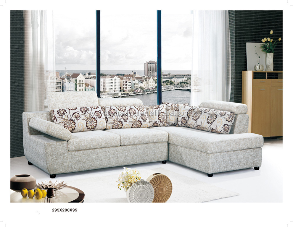 Two Color Sofa Fancy Set Modern Fabric