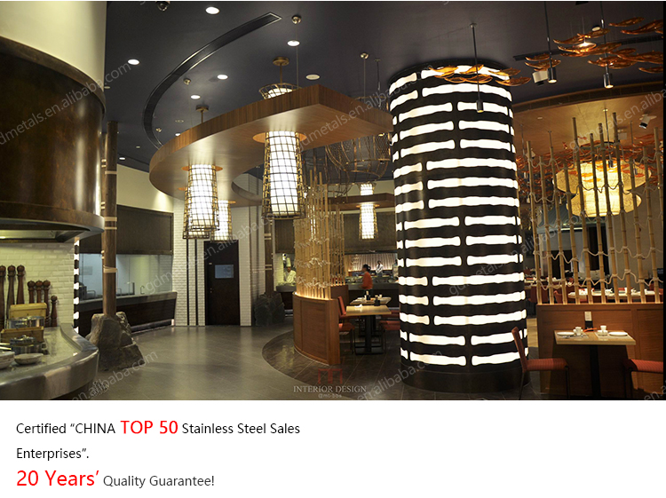 Fancy Interior Decorative Round Cladding Post Aluminum Stainless Steel Led Light Column