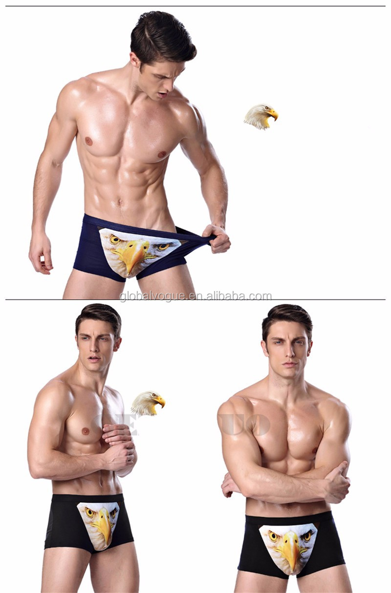 Foreign trade men trend underwear men 's underwear wolf head 3D printing male underwear