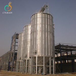 New Promotion steel material corrugated plate grain storage silo for sale