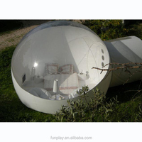 HI hot sale clear giant bubble tent welding inflatable bubble tent for rent can put tables and chairs and bed