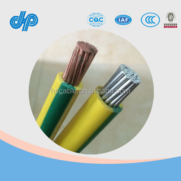 6mm 10mm 16mm 25mm 35mm 50mm 70mm 95mm Yellow/Green PVC copper ground cable