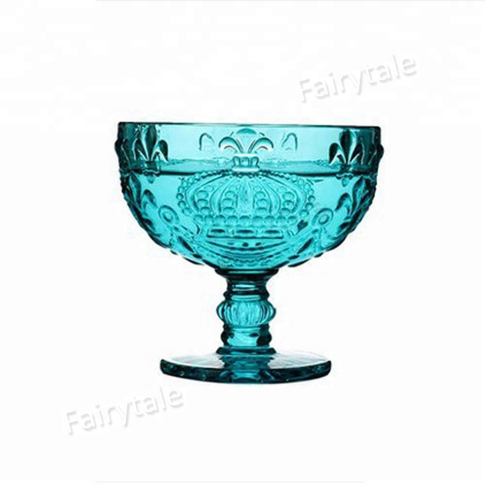 Big Discount Price Home Footed Glass Mini Trifle Dessert Dishes Bowls  Embossed Coupe Bowl Set - Buy Dessert Dishes,Mini Trifle Bowl,Coupe Bowl  Product