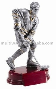 metallic look hockey plastic figure(MW-PT448)