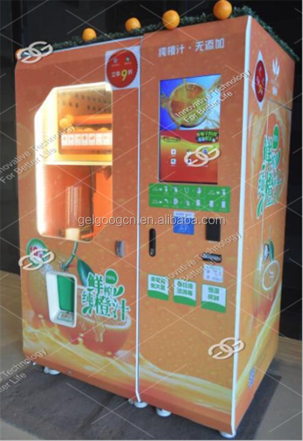 fresh squeezed orange juice vending machine