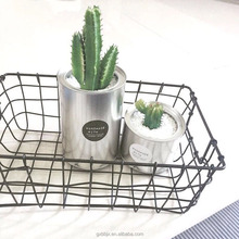 Black metal wire basket archiviazione con <span class=keywords><strong>design</strong></span> aperto