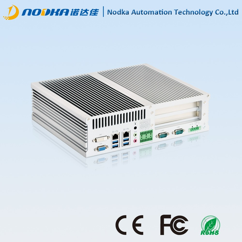 High powerful Fanless PC,i3 i5 i7 PCI Embedded computer