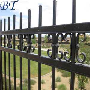 High Quality Customized Hand Forged Wrought Iron Fence Galvanized Fence Metal Fence