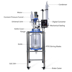 Chemical Glass Reactor Plug Flow Reactor Price