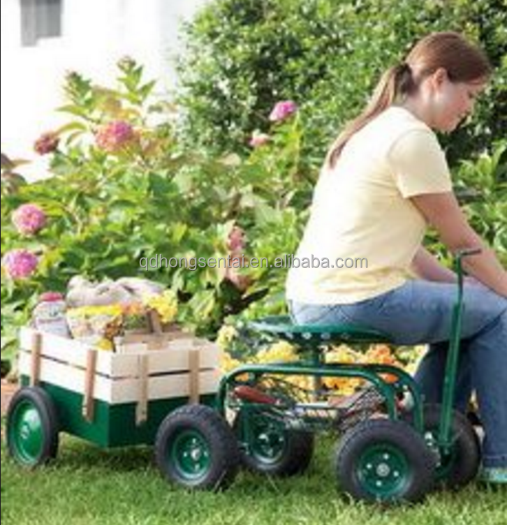 Rolling Garden Trolley Cart With Seat , Buy Garden Cart With Seat,Garden  Cart,Rolling Garden Cart Product on Alibaba.com