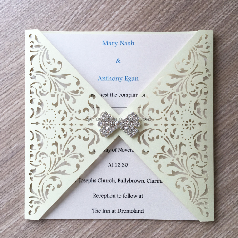 Pearl Paper Indonesia Greeting Cards Wedding Invitation Card Laser ...