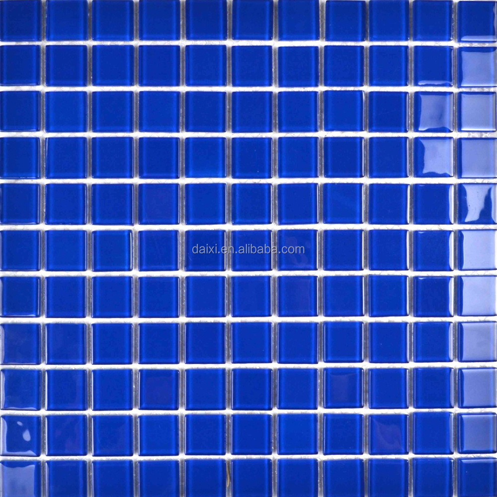 Blended Blues Glass Mosaic for Swimming Pool Tile