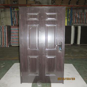 Pu Foam Infilling Six Panel Steel White Modern Bedroom Doors Buy