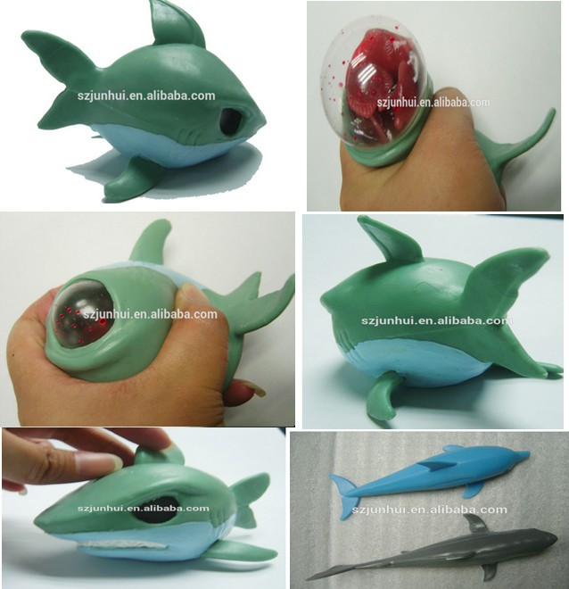 Shark Toys At Walmart : Novelty item tpr squeeze shark toy buy