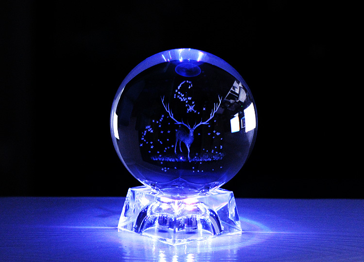 DL-BL033 Hot Sale Personalized Solar System Crystal Ball 3D Miniature Planets Model Sphere Glass Globe Ornament with LED Base