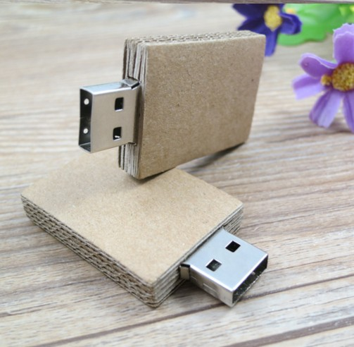 Hot Selling Eco-Friendly Recycled Cardboard Paper Usb Flash Driver 1Gb 2Gb 8Gb 16Gb 4Gb Memory Stick