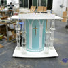 GUIHEYUN novelty church pulpit Wholesale Crystal pulpit Trade Assurance Used Customized Size free church pulpits podium