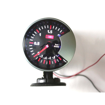 Car Accessories Bar Turbo Boost Vacuum Gauge White Led Light Dial
