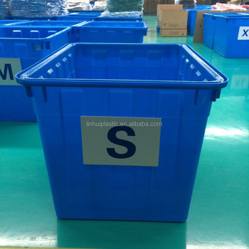 400kgs HDPE no folding Plastic Large Fabric clothing storage Crate