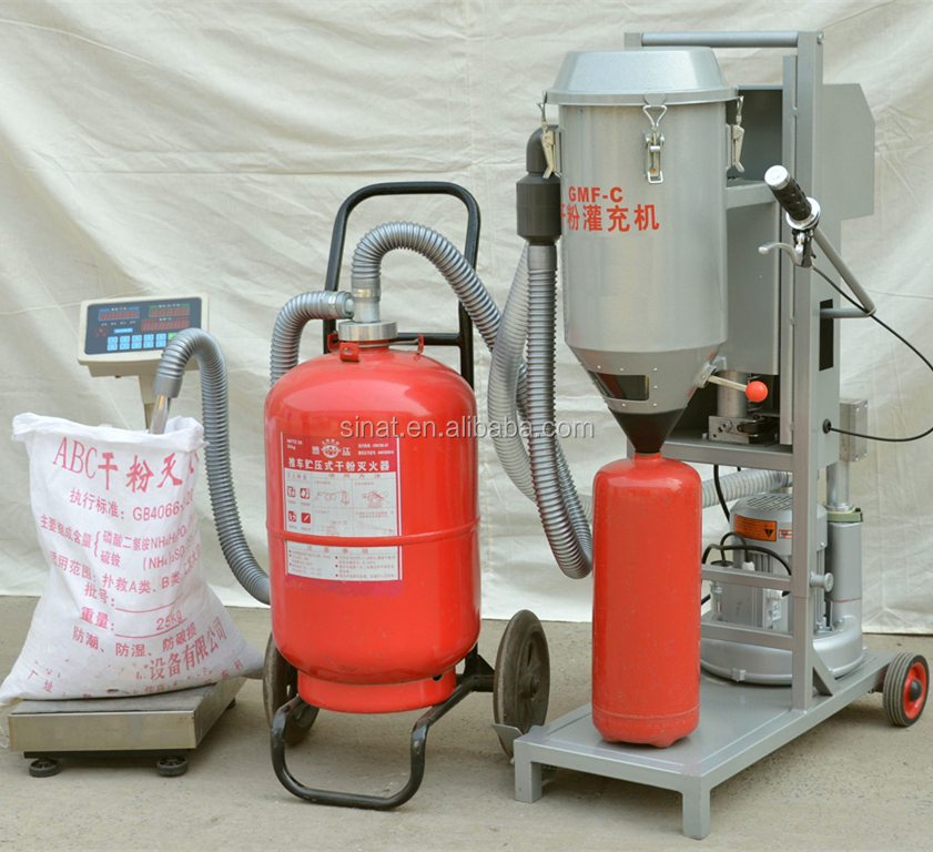 Professional powder Refilling <strong>machine</strong> for fire extinguisher