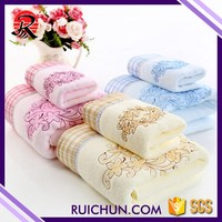 Woven Attractive Cotton Terry Towel Bath Towels With Cartoon Design