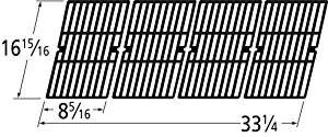Music City Metals 66124 Gloss Cast Iron Cooking Grid Replacement for Select Broil King Gas Grill Models, Set of 4