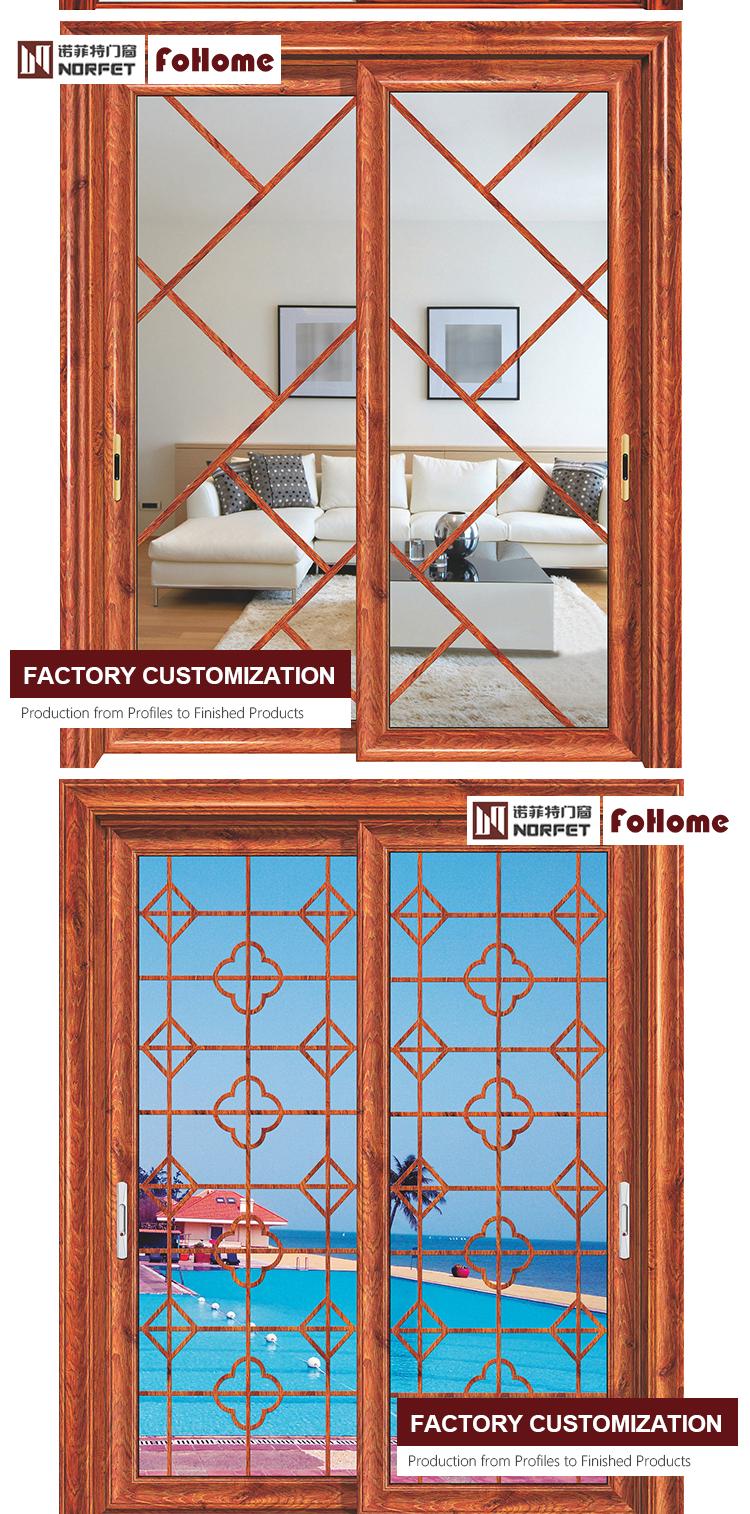 China Window Doors Aluminum Alloy Sliding Door Soundproof Glass Interior Doors