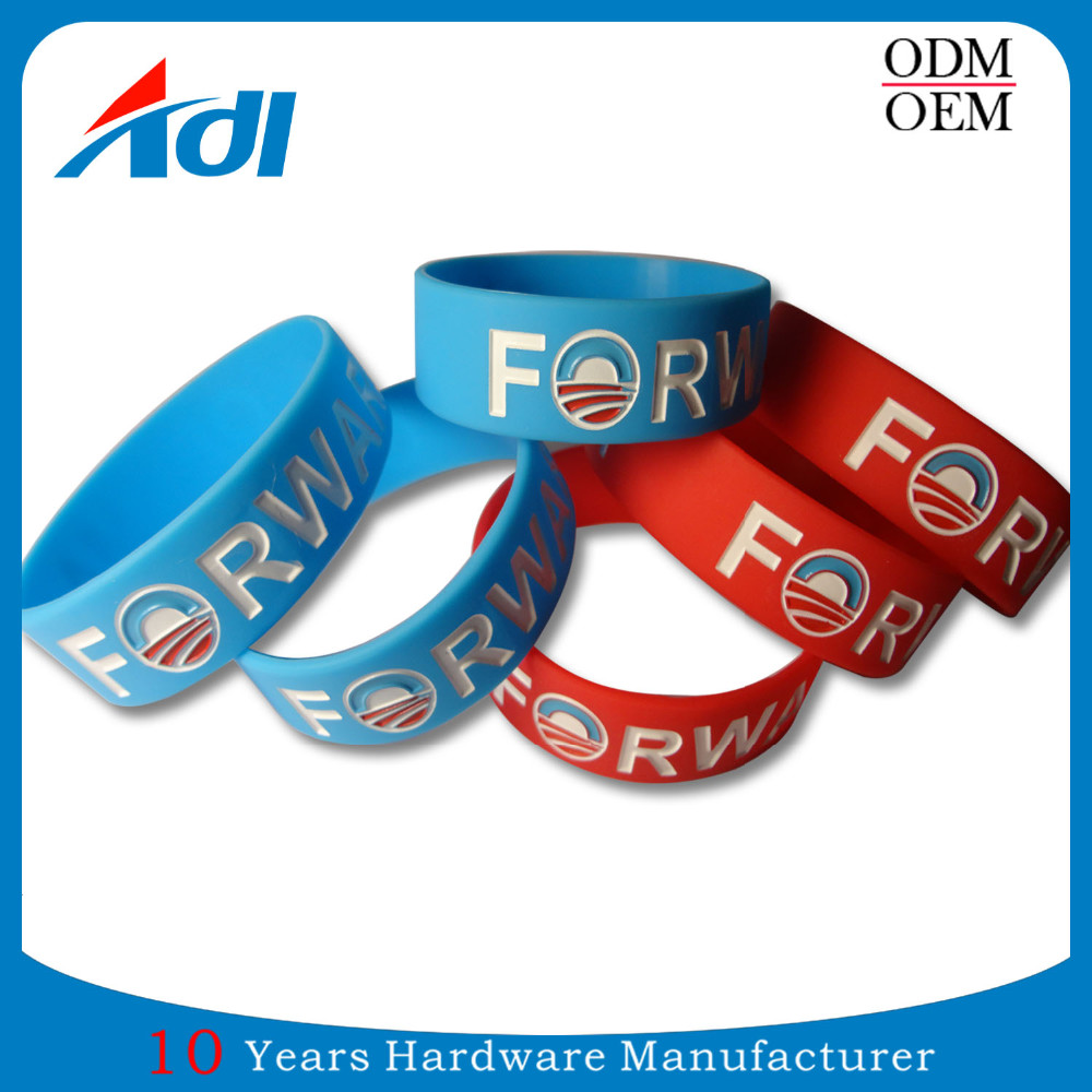 personalized silicone PVC sports wristband for sports