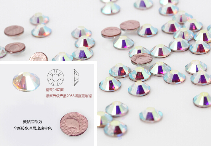 48b3173c3 Get Quotations · SS20 1440pcs 4.6-4.8MM Crystal AB Hot Fix Luxury  Rhinestones Strass Flatback Hotfix crystal