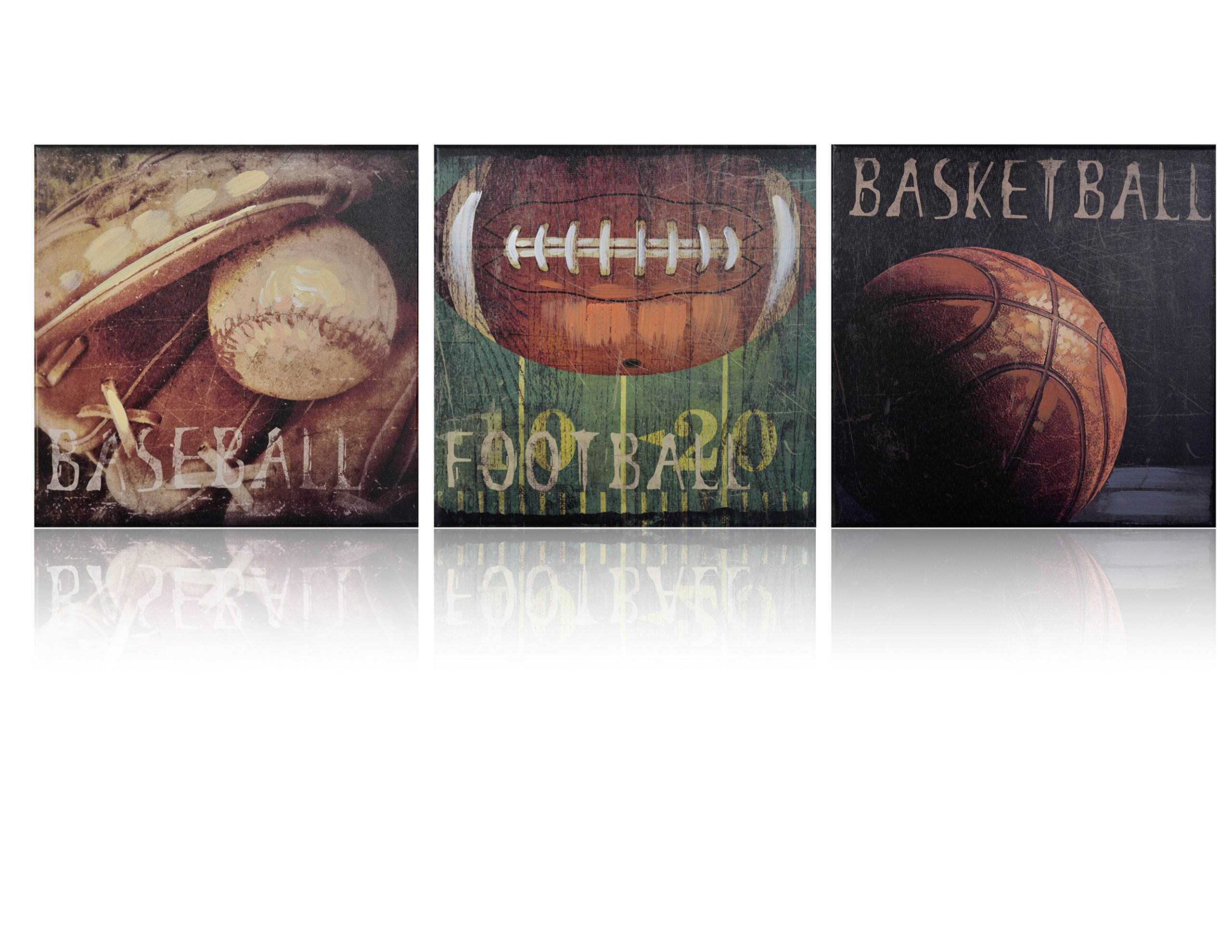Sports Themed Canvas Wall Art Boys Bed Room Décor